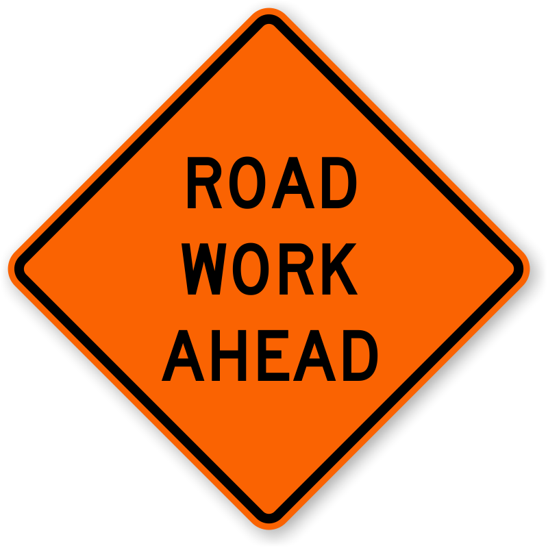 Road Work Announcement